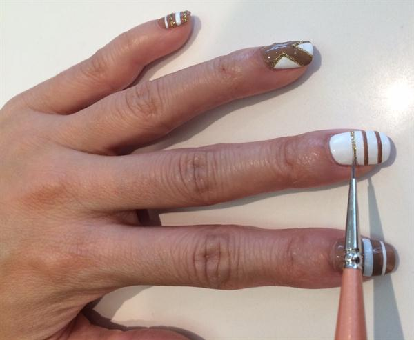 Drawing Lines On Nails : Chanel inspired nail art style nails magazine