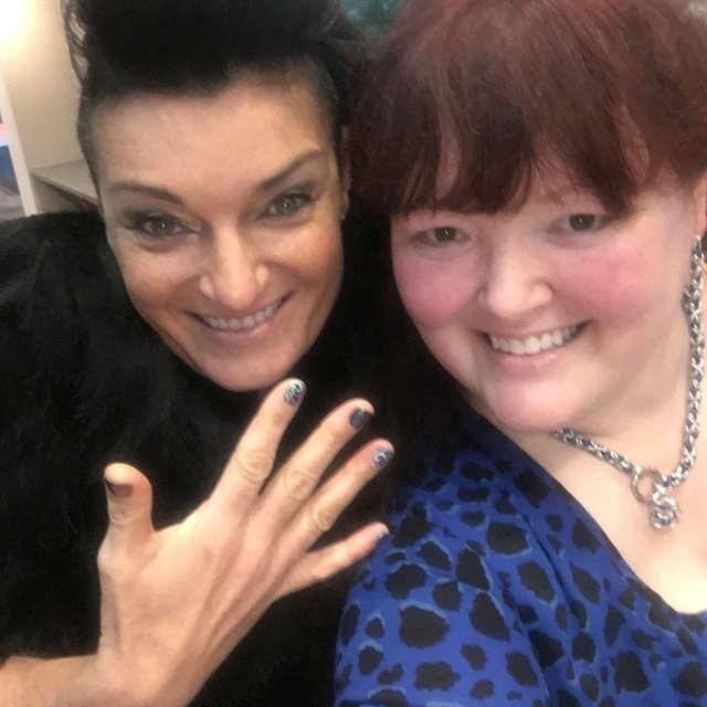 I had the privilege of doing Jen Planck's nails before her inspiring presentation.