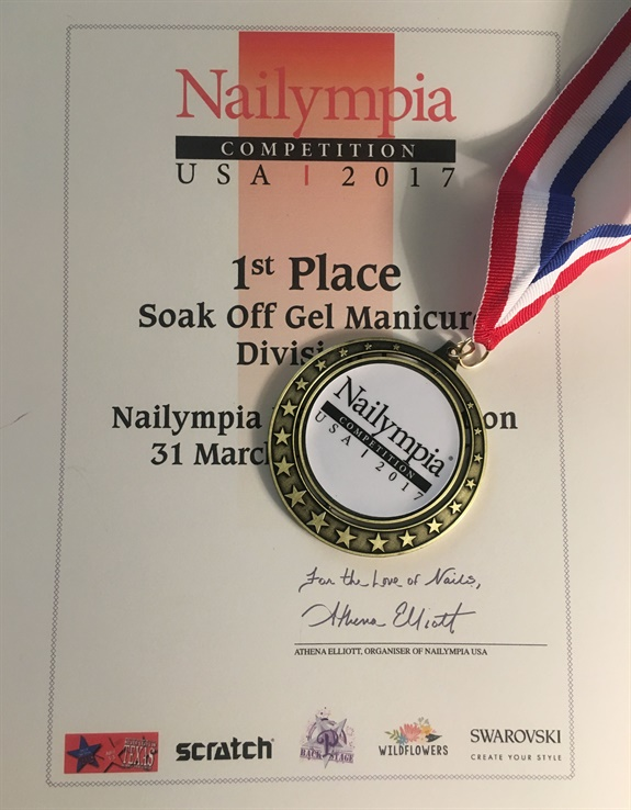 <p>My competition results at Nailympia!</p>