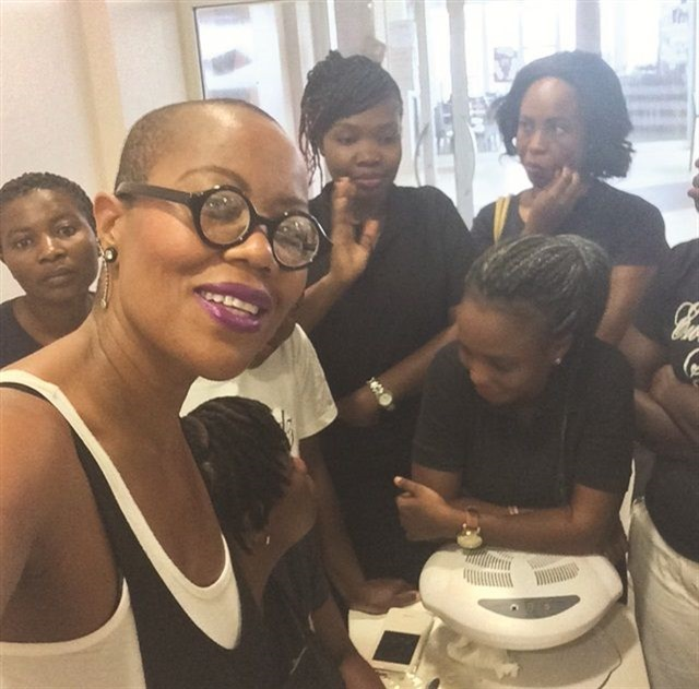 <p>Maisie Dunbar made a trip to Ghana to train nail techs, attend Mercedes Benz Ghana Fashion Week, and gauge interest in her Bluffa Jo cosmetics line.</p>