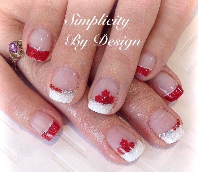 Day 183 Canada Day Nail Art Nails Magazine