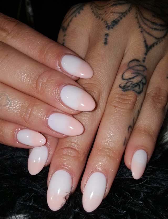 Day 141: White Fade & Accent Nail Art - - NAILS Magazine