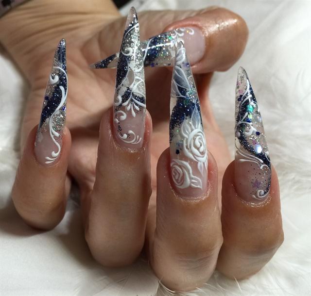 Day 143 Stiletto Scroll Nail Art Nails Magazine