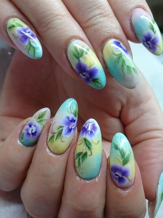 Day 230: Flowers & Lace Nail Art - - NAILS Magazine