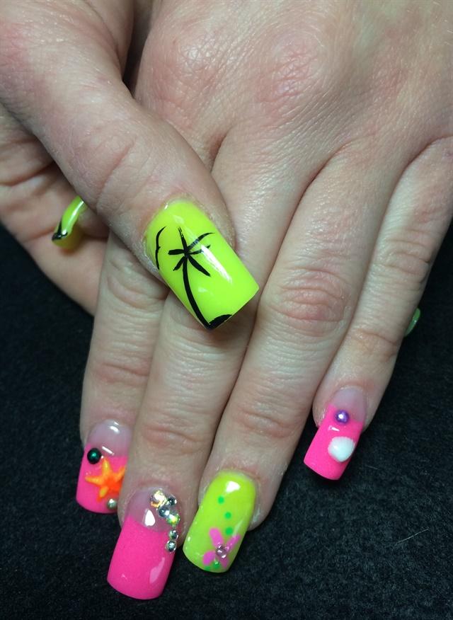 Day 237: Neon Nail Art - - NAILS Magazine