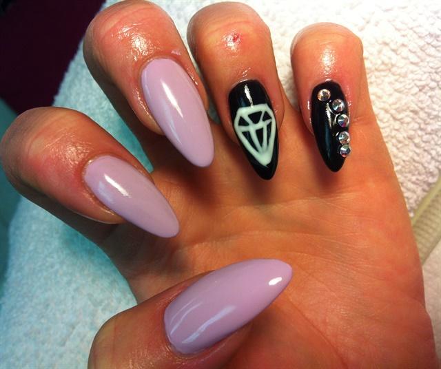 Day 246 Crosses Diamonds Nail Art Nails Magazine