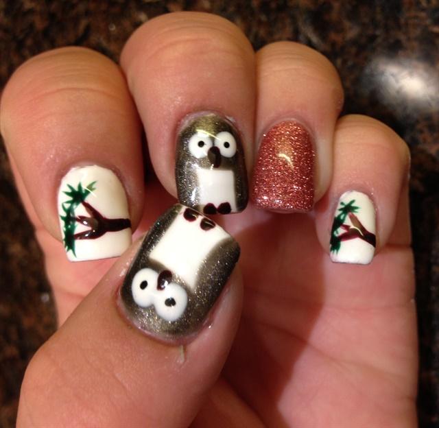 Jaclyn Clara, Vaughan, Ontario, Canada. For more owl nail art ... - Day 252: Owl Nail Art - - NAILS Magazine