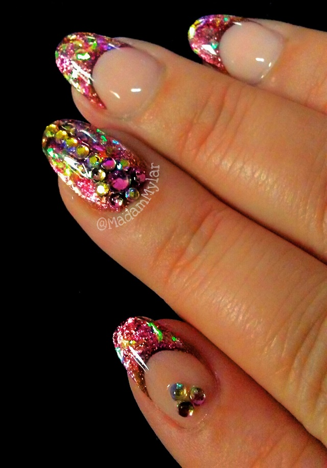 Day 259: Confetti French Nail Art - - NAILS Magazine