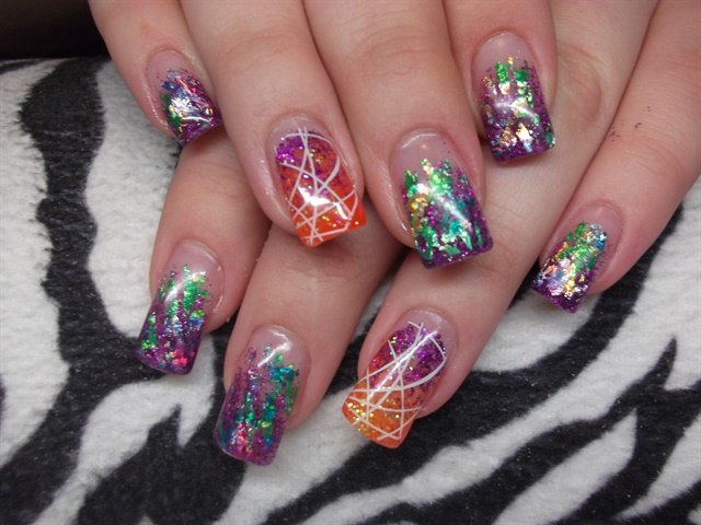 Day 263: Autumn Sparkle Nail Art - - NAILS Magazine