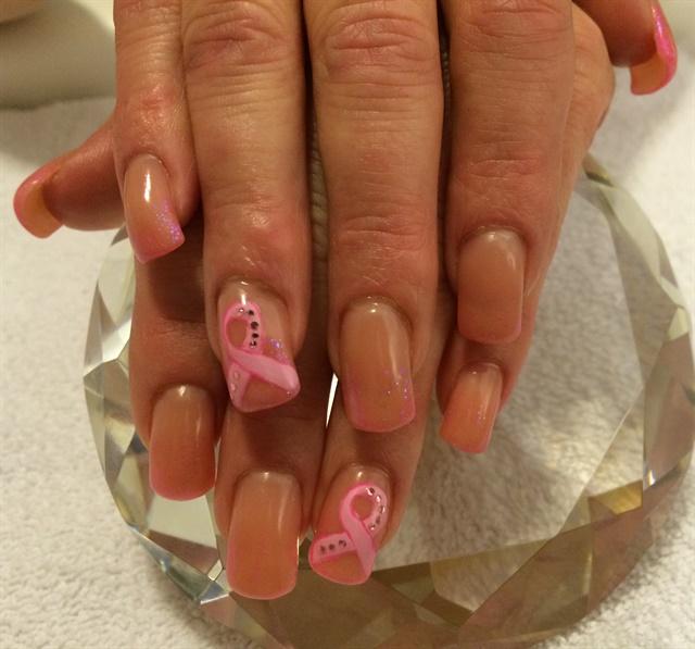 Day 278: Pink Ribbon Nail Art - - NAILS Magazine