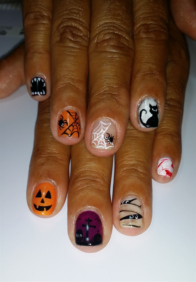 Day 287: Scary Good Halloween Nail Art - - NAILS Magazine