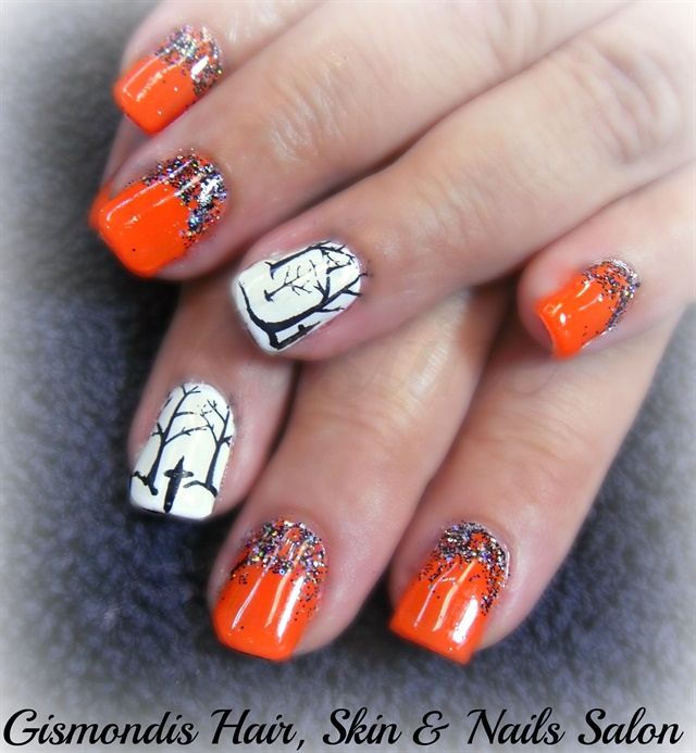 Day 289: Black & Orange Nail Art - - NAILS Magazine