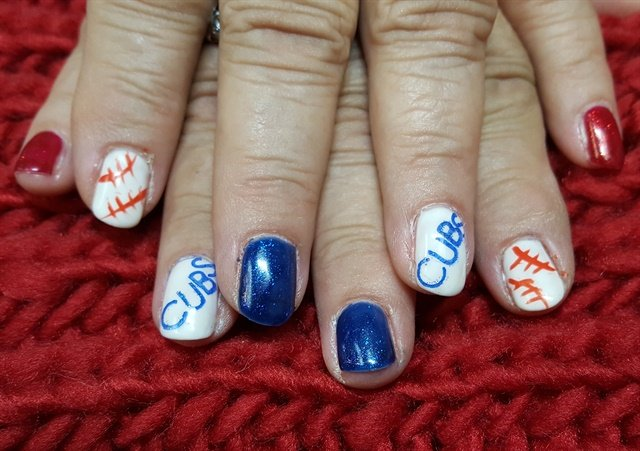 Day 307 Chicago Cubs Nail Art Nails Magazine