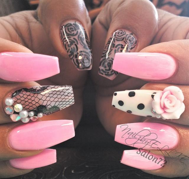 Day 328: Pink Polka Dot Nail Art - - NAILS Magazine