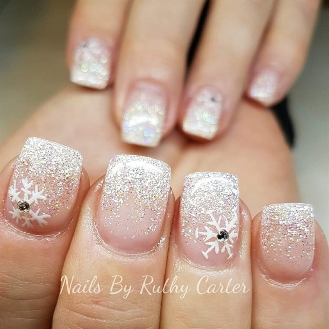 Day 342 First Snowfall Nail Art Nails Magazine