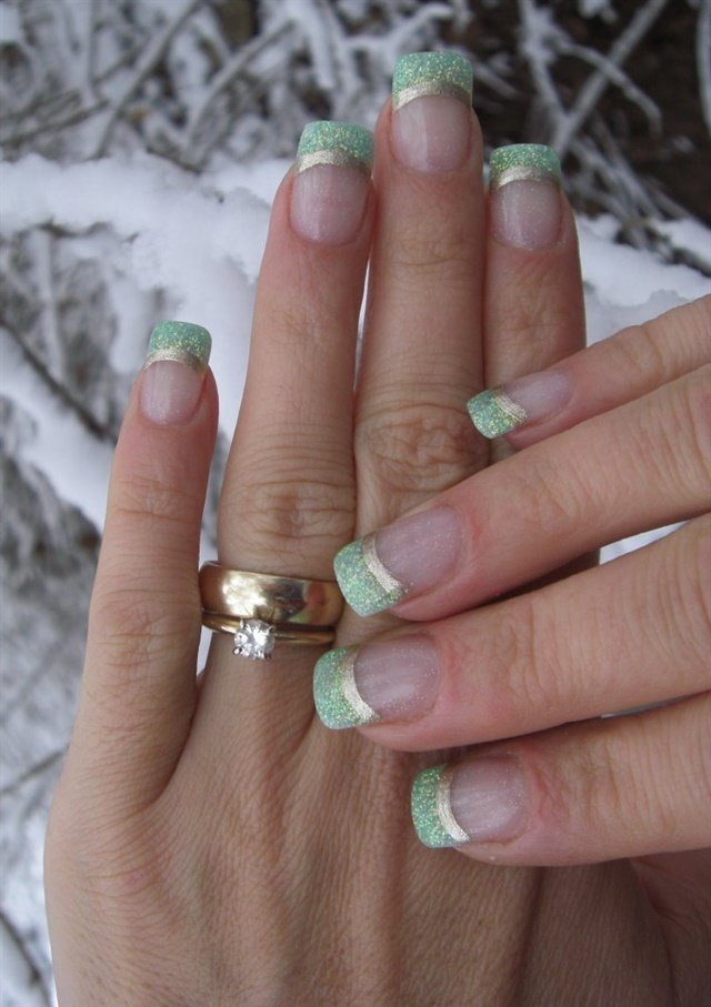 Day 351: Red & Green French Nail Art - - NAILS Magazine