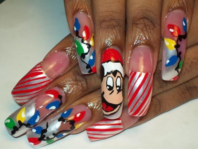 Day 354 Character Christmas Nail Art Nails Magazine
