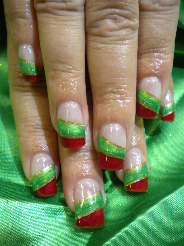 Day 356 christmas color block nail art nails magazine prinsesfo Images
