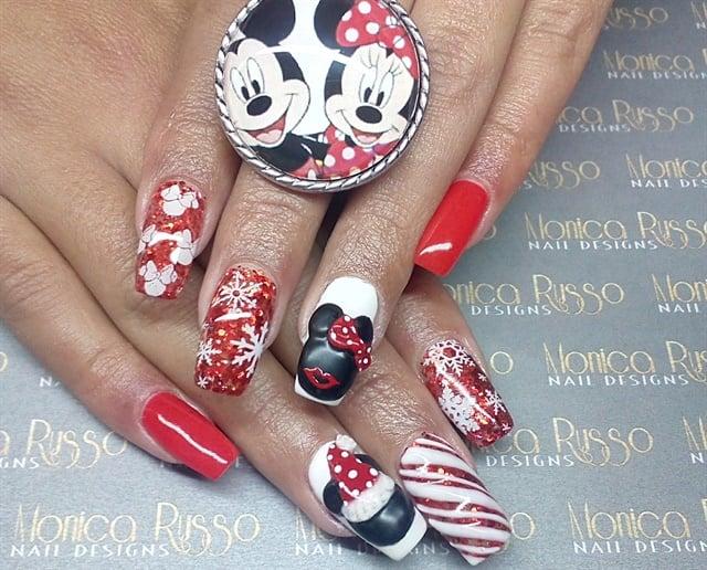 Monica Russo, Figueira da Foz, Portugal - Day 358: Merry Mickey & Minnie Nail Art - - NAILS Magazine