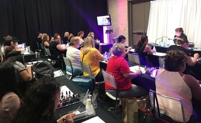 The classes provided an amazing opportunity to connect with fellow nail professionals.