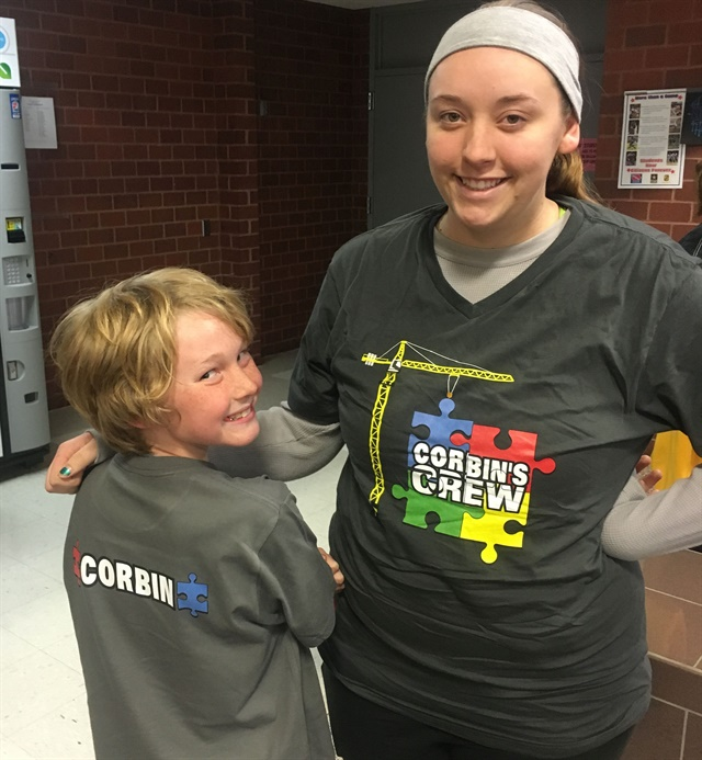 <p>The autism walk was a full family effort.</p>