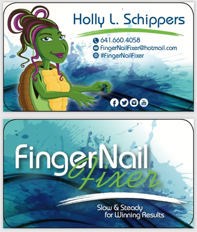 <p>Here's the front and back of my new cards.</p>