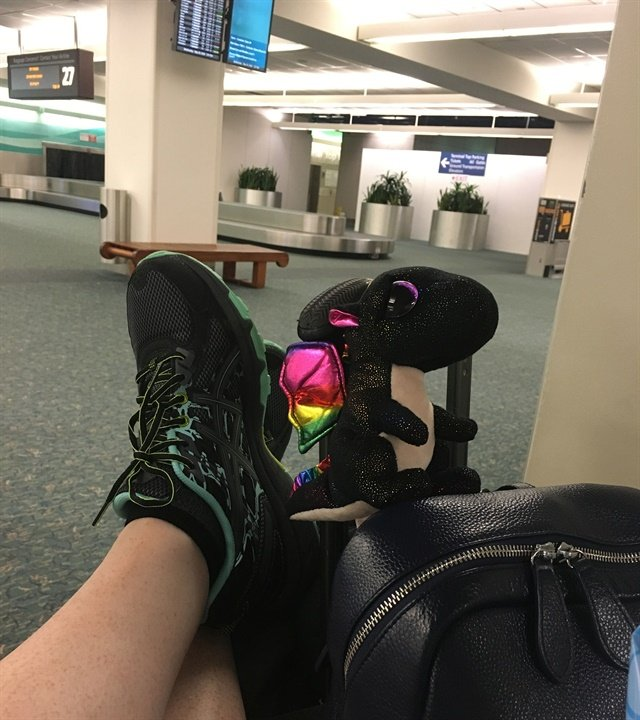 Chillin' at the airport with Acheron is a pretty common occurrence.