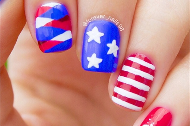 Seeing stars nail art for fourth of july nails magazine via nail art gallery prinsesfo Choice Image