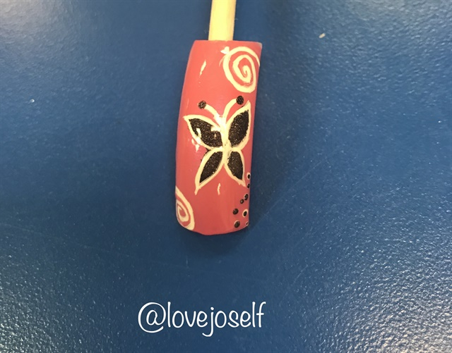 <p>Working on that nail art! I'm determined to turn into a beautiful butterfly.</p>