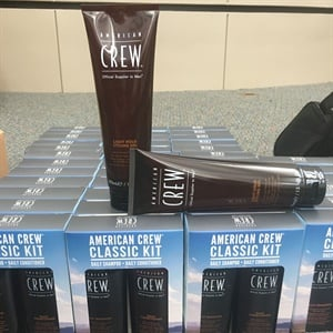 American Crew provided shampoo and conditioner for the boys.