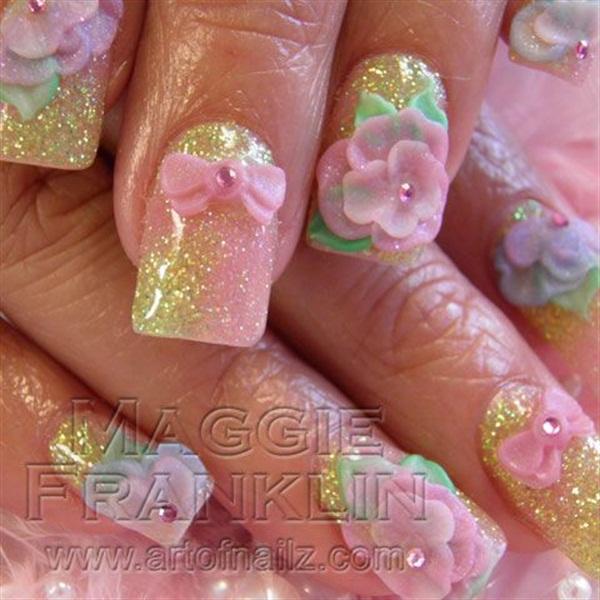 <p>Pretty spring nails #1</p>