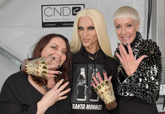<p>CND's Shelena Robinson, The Blonds' Phillipe Blond, and CND co-founder Jan Arnold</p>