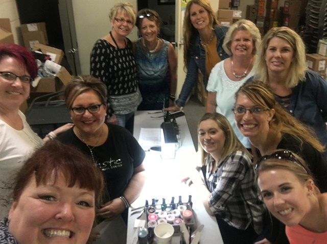 <p>Jennie Sukovaty taught a full class of 10 professionals in Council Bluffs, Iowa.</p>
