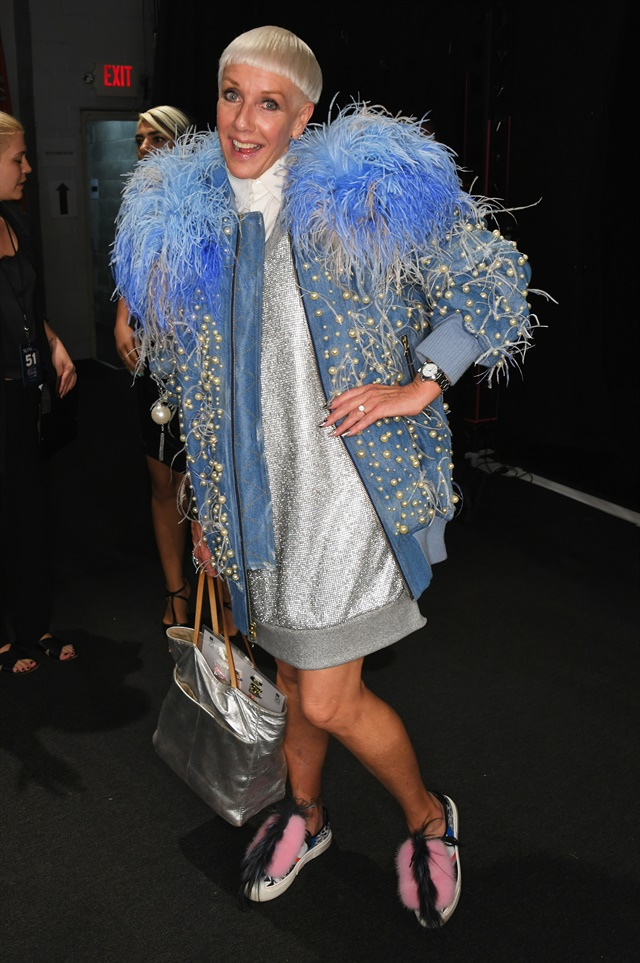 <p>CND Co-founder Jan Arnold backstage at The Blonds. Photo courtesy of CND.</p>