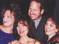 <p>(left to right) Educator of the Year finalists Barb Wetzel, Tanis Darling, and Joanne Linck with The Nailco Group's Larry Gaynor. </p>