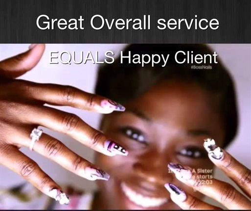 <p>Amber's nails, for her client who wanted to convey the emotion of love. Nails were great, client was happy.</p>
