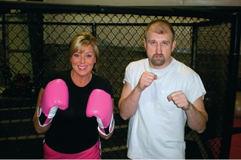 """<p>""""If the boogie man wants to come after me I can knock him out with my hot pink gloves.""""</p>"""