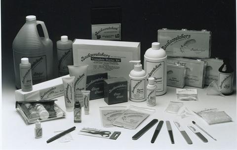 <p>Backscratchers' original product packaging may look familiar to veteran technicians.</p>