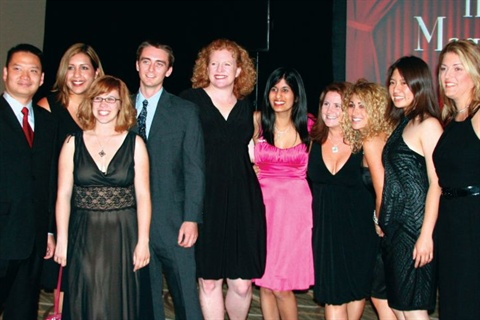 <p>NAILS and VietSALON were well represented at the awards ceremony. From left are: Tri Ta, Carla Benavidez, Ajay Peckham, Tim Crowley, Cyndy Drummey, Sree Roy, Hannah Lee, Danielle Parisi, Kimberly Pham and Michelle Mullen.</p>