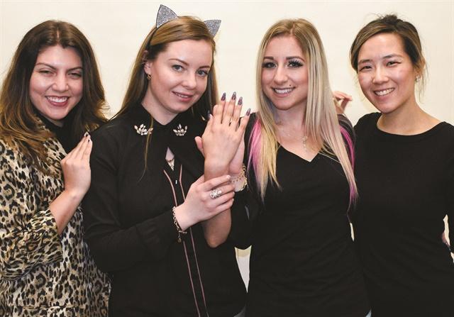 <p>NAILS executive editor Beth Livesay, cover artist Anastasiia Morozova, model Ciara Pisa, and art director Yuiko Sugino.</p>