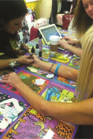 <p>Renee Meyers got to polish Betsey Johnson's nails. <br /><br /></p>
