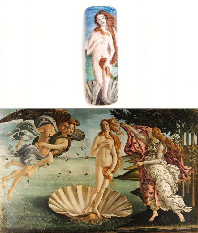 Nail by Sarah Carrillo, Northglenn, Colo. Art displayed at Uffizi Gallery.