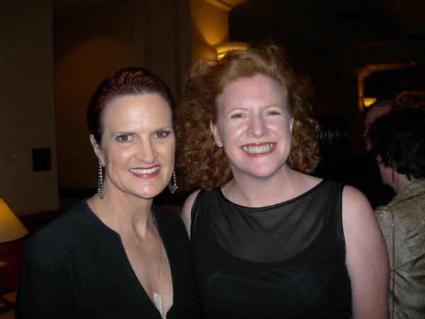 <p>Mincy (left) with NAILS publisher Cyndy Drummey during a City of Hope event honoring Mincy.</p>