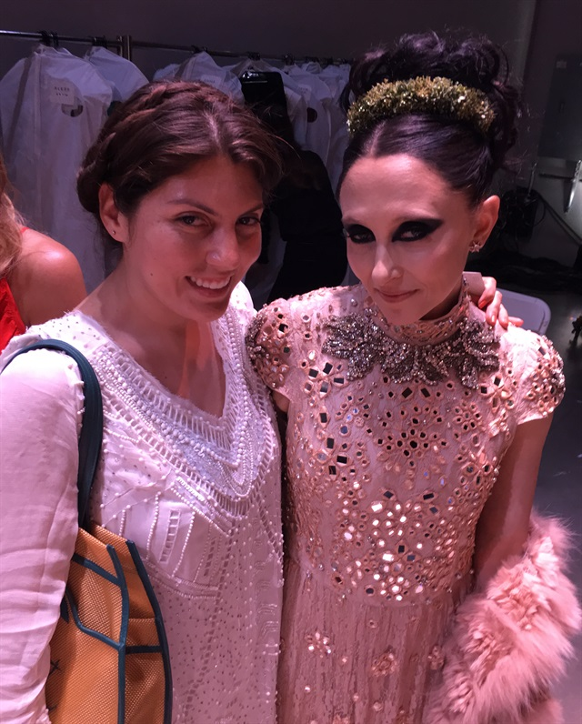 Beth & designer Stacey Bendet