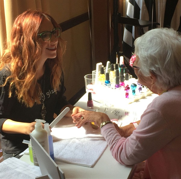 Instagram's oldest sensation @baddiewinkle enjoys a China Glaze manicure by nail stylist Brittni Rae.