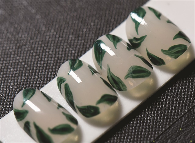 Nail art by CND for Alice + Olivia at NYFW. Photo courtesy of CND