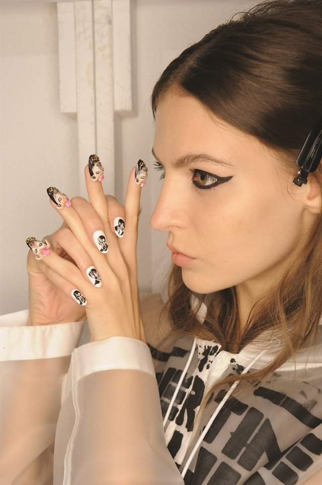 The split-style mani done by the CND team at Libertine. Photo courtesy of CND