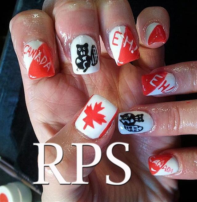 "<p>Via <a href=""http://nailartgallery.nailsmag.com/redplatinum/photo/316143/canada-eh"">Nail Art Gallery</a></p>"