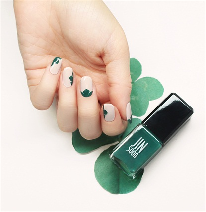 St patricks day nail art by jin soon style nails magazine editorial manicurist jin soon choi offers this tutorial for a chic and green st patricks day design prinsesfo Image collections