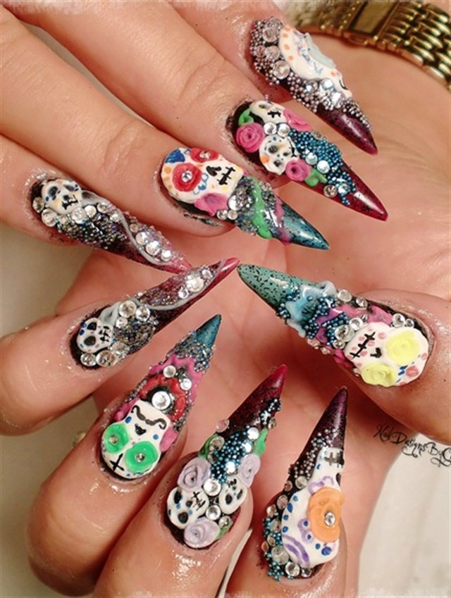 10 Drop (Day of the) Dead Nail Art Designs - - NAILS Magazine
